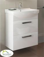 Badmöbel Waschbecken 50 cm hängend Waschbeckenunterschrank ...