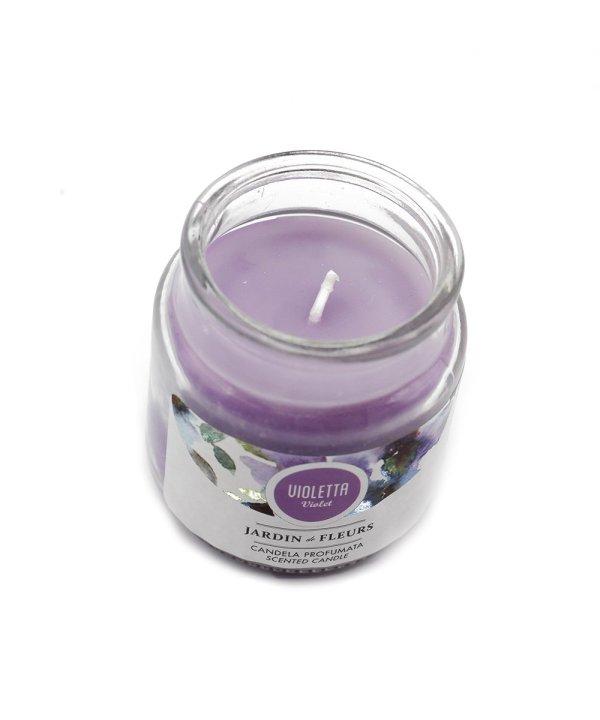 candela profumata alla violetta