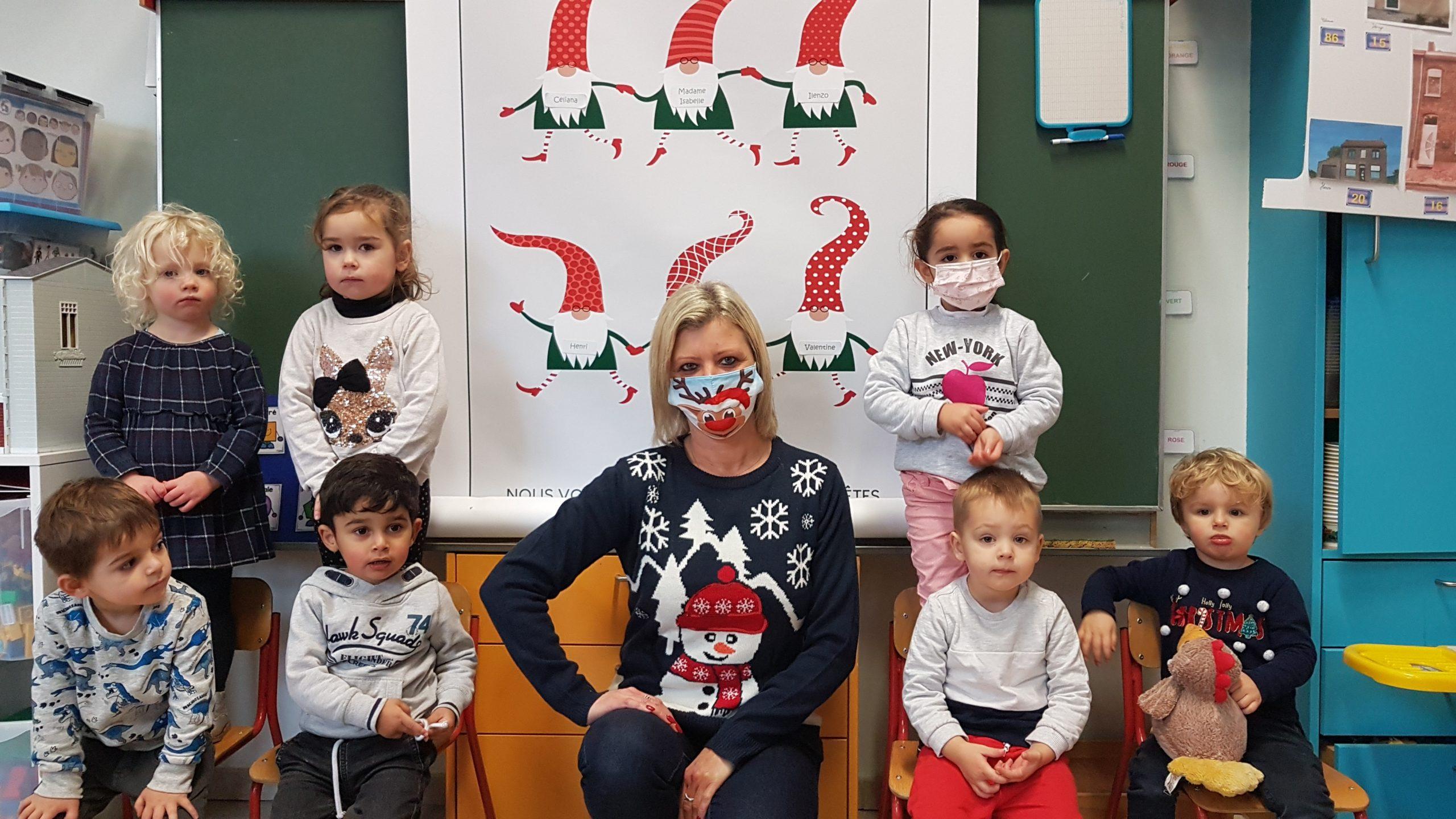 Les vœux des élèves de la classe d'accueil et de Madame Caroline