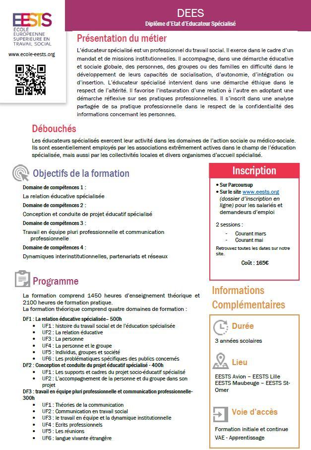 Domaine De Compétence éducateur Spécialisé : domaine, compétence, éducateur, spécialisé, Formation, Spécialisé, (DEES), Diplôme, D'Etat, Lille