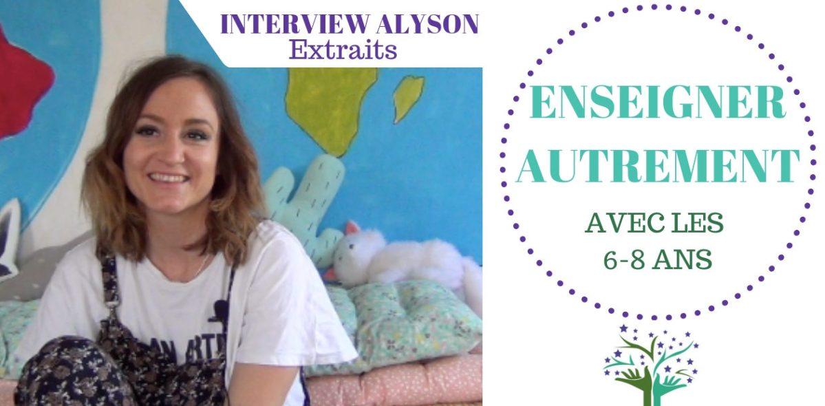 Enseigner autrement à l'école publique avec les 6-8 ans - Interview vidéo ALYSON
