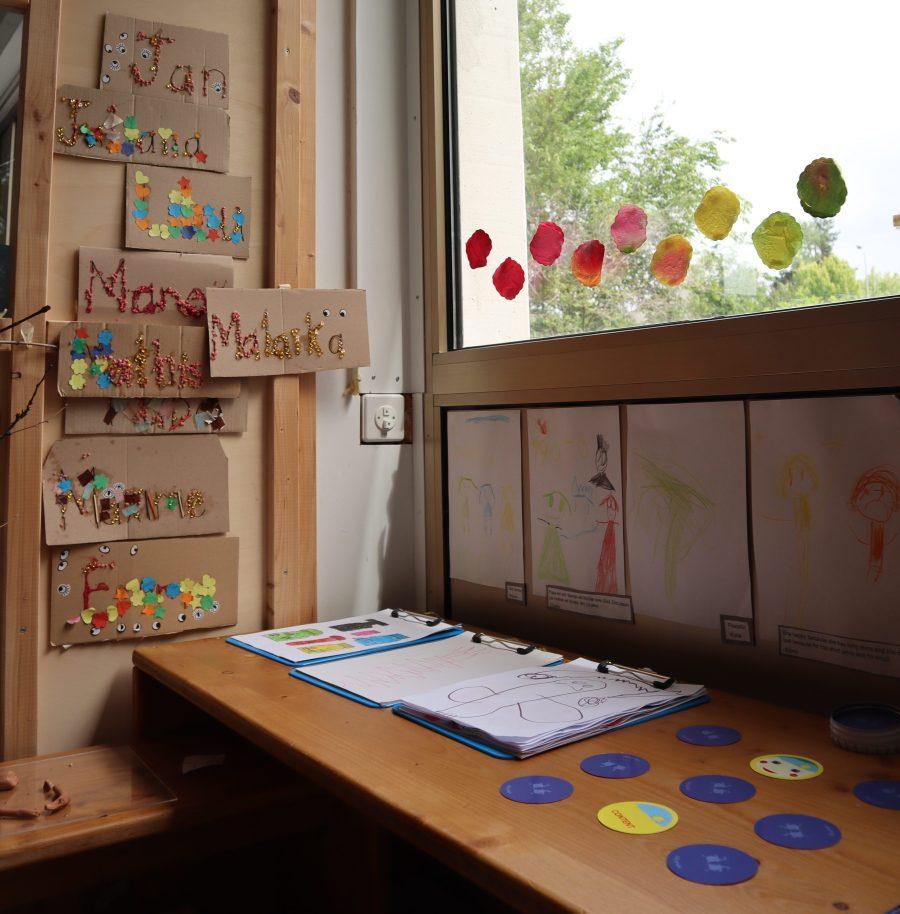Prénoms - art- Ecoline - Reggio Emilia