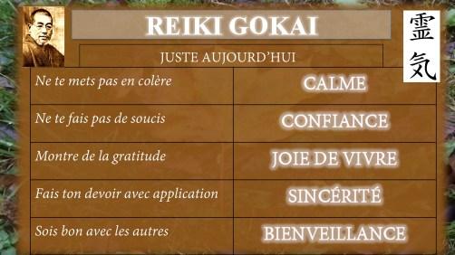 Les cinq Vertus des Cinq Préceptes (Gokai) du Reiki