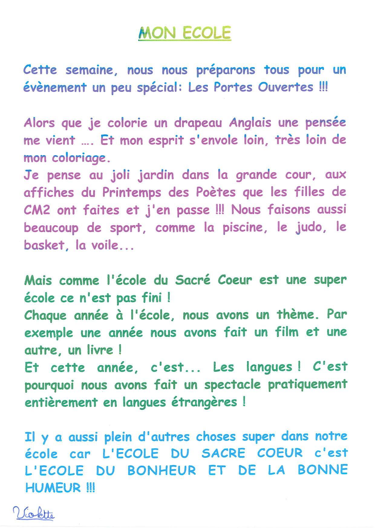 Poesie Mon Ecole Est Plein D Images : poesie, ecole, plein, images, école, Textes