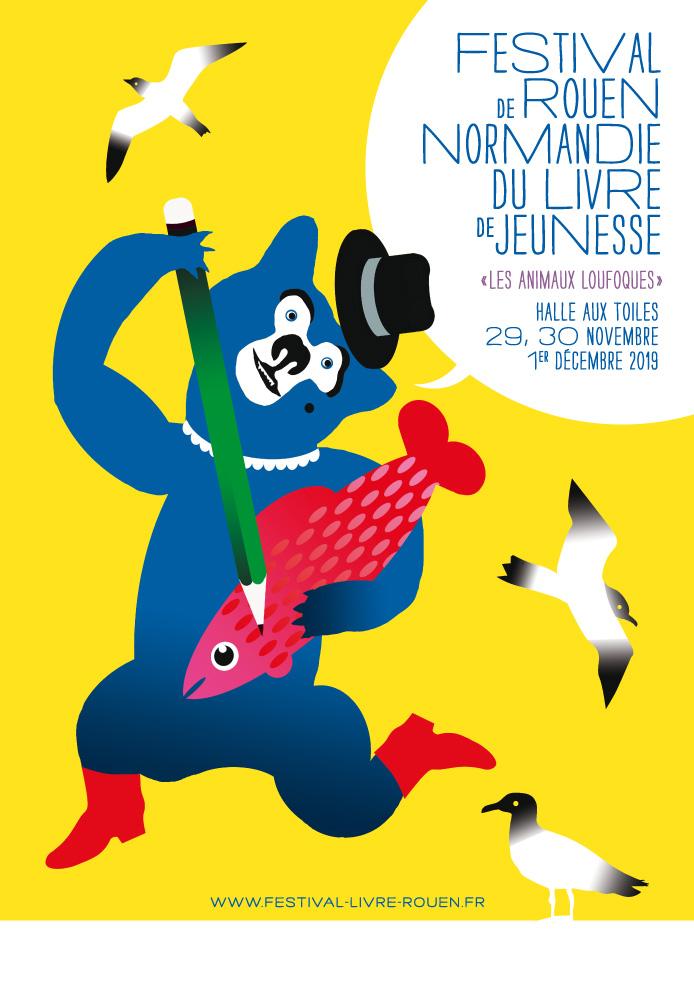 Visite du salon du livre jeunesse à Rouen