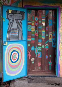 decoración puerta ecolectivo