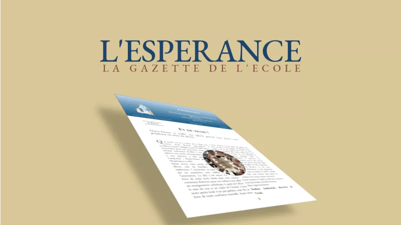 La Gazette de l'Espérance N°1