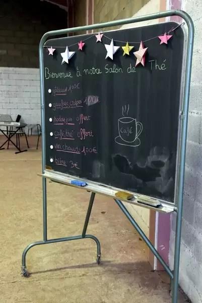 Tableau du salon de thé du marché de Noël 2018 de l'école Notre Dame de l'Espérance