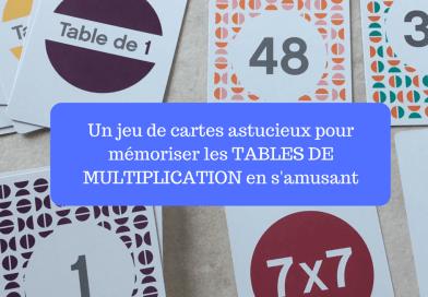 Objectif multiplication : un jeu de cartes astucieux pour mémoriser les tables de multiplication en s'amusant