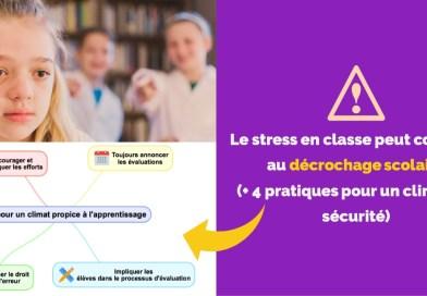 Le stress en classe peut conduire au décrochage scolaire (+ 4 pratiques pour un climat de sécurité)