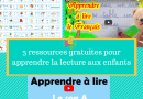 3 ressources gratuites pour apprendre la lecture aux enfants
