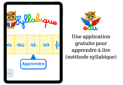 Une application gratuite pour apprendre à lire (méthode syllabique)