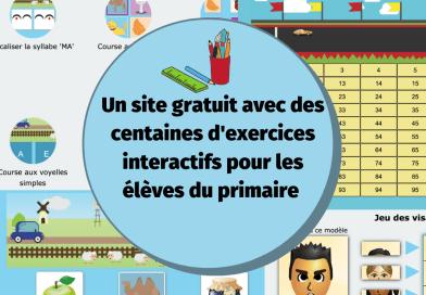 La classe de Florent : un site gratuit qui propose des exercices interactifs pour les élèves du primaire