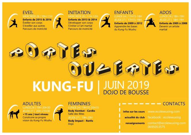 Portes ouvertes Ecole Wuxing Kung-Fu juin 2019