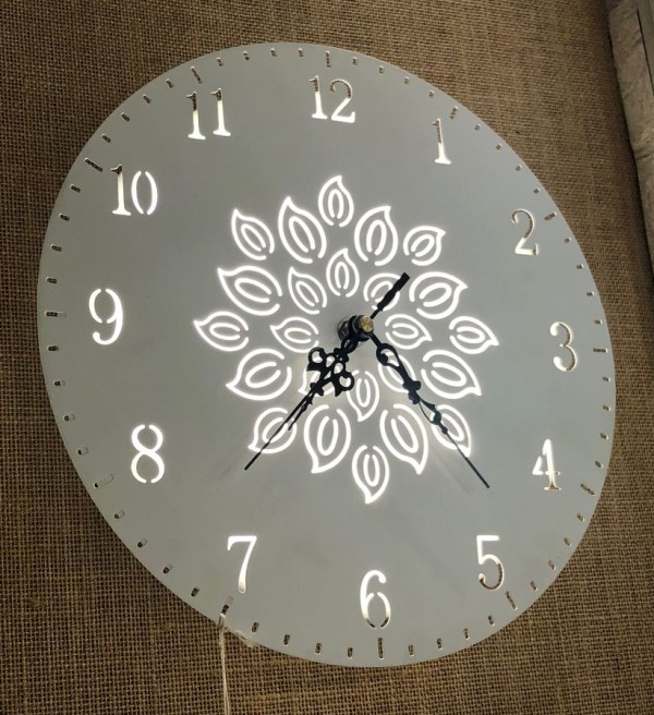 light with clock