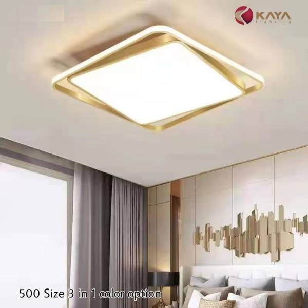 sqaure led dome light with golden edges