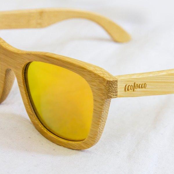 Bambusové slnečné okuliare žlté