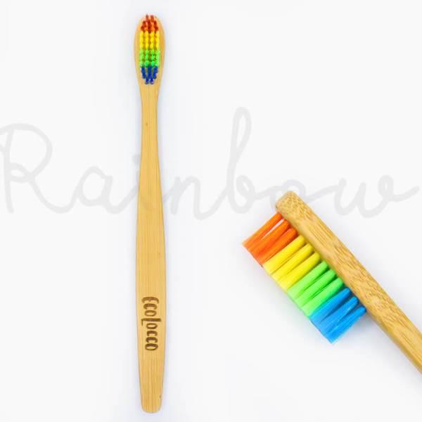 Dúhová bambusová zubná kefka –Jemná