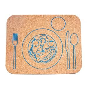 Detské korkové prestieranie na stôl korkii – Zeleninka