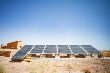 Ecolodge lile de Ouarzazate solar panels