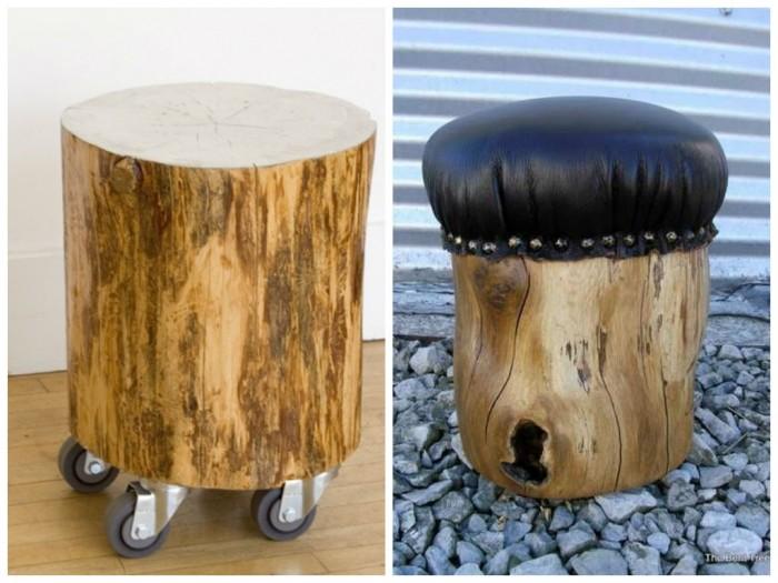 Troncos palets y tablas para rsticos sillones y bancos