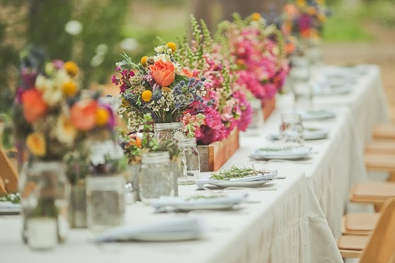 Centros de mesa reciclados para bodas campestres o