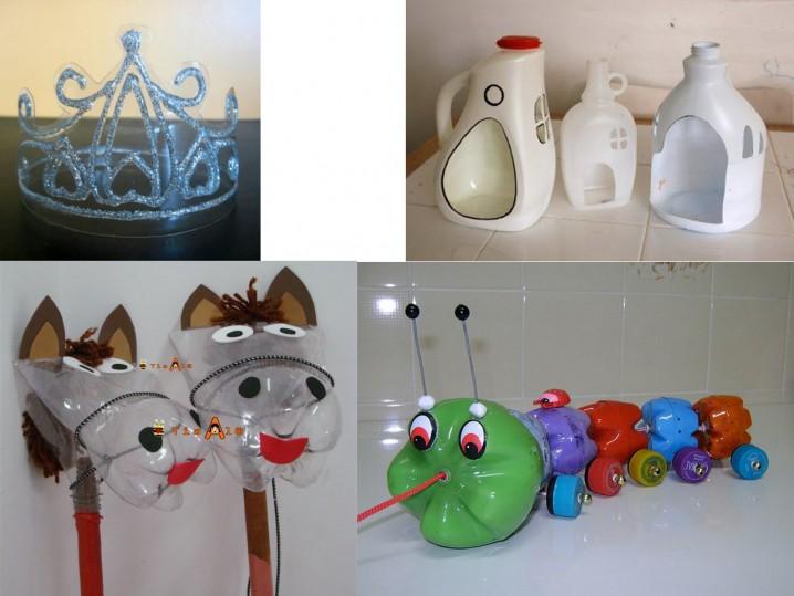Juguetes para nios hechos con botellas recicladas