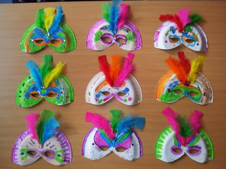Masken Basteln Pappteller Die Besten 25 Karnevalsdeko