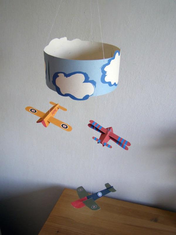 Mviles infantiles originales con material reciclado