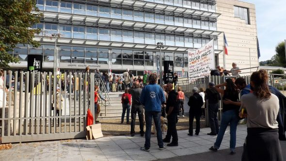Mobilisation contre Center Parcs Lons-le-Saunier 22/09/2016