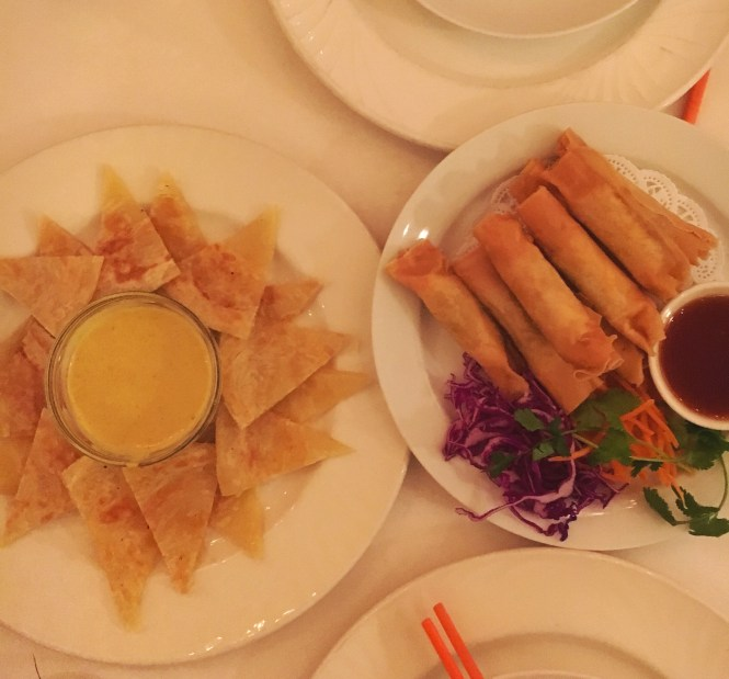 Rote Curry and Exotic Thai Egg Rolls