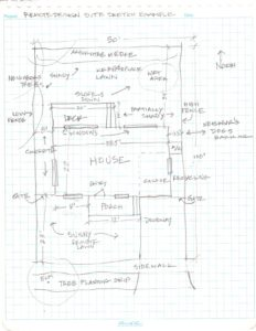 image: site measurement sketch example