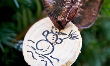 Kerstboomversiering / cadeautjesaanduider zelf maken