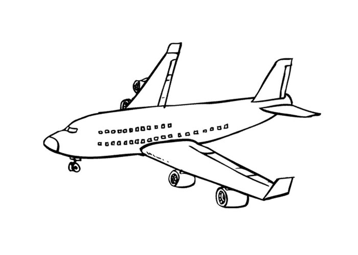 Boeing 737 Airplane Coloring Page Printable