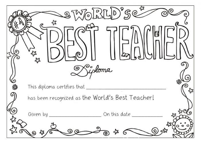 10 Teacher Appreciation Coloring Pages