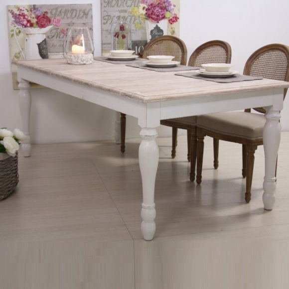TAVOLO BIANCO SHABBY CHIC PROVENZALE FRANCESE COUNTRY