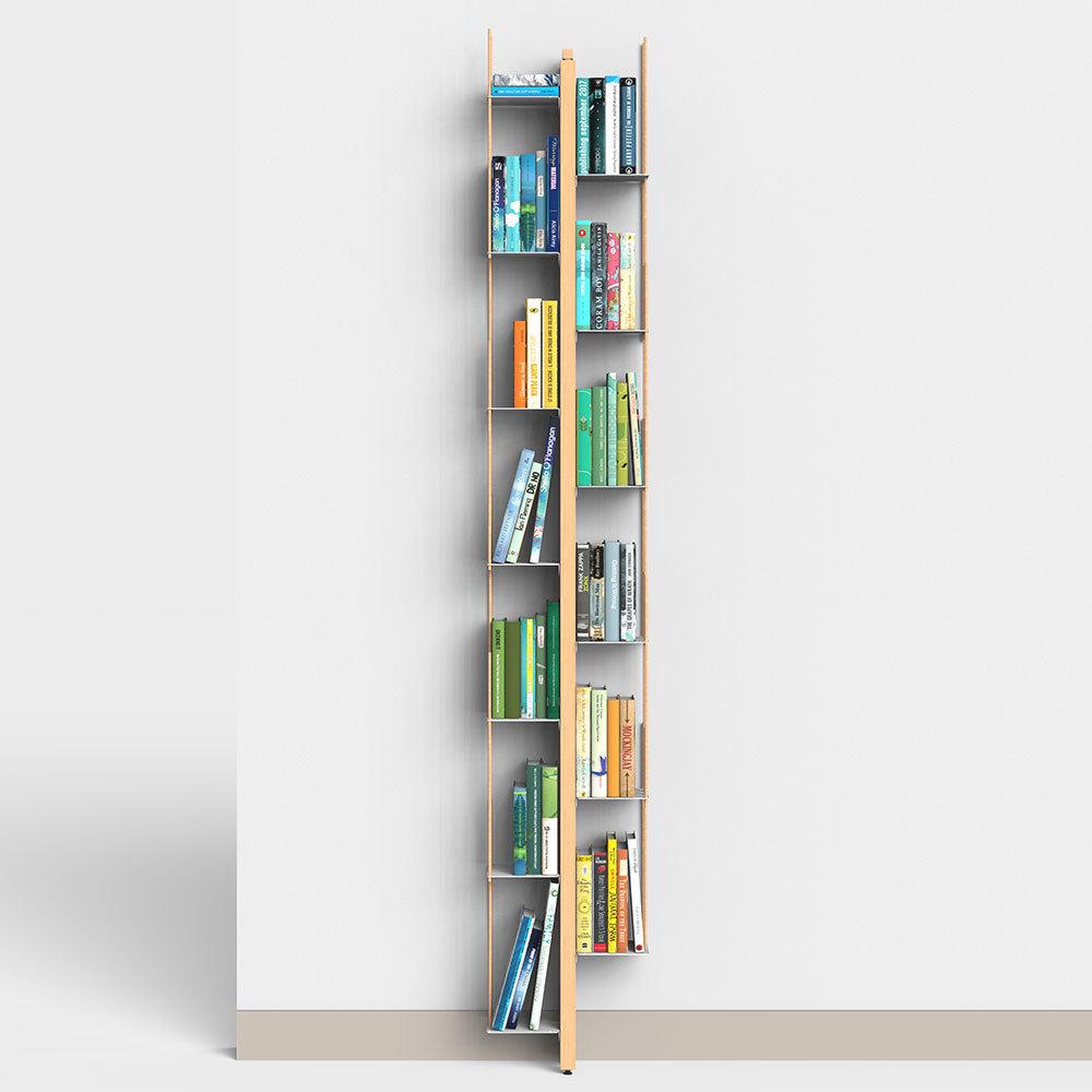 Con il suo inedito sguardo sugli oggetti quotidiani, carlo tamborini avvia la collaborazione con porro con la libreria pensile gap. oggetto dalla vocazione scultorea, si compone di fondale, mensole e una cornice esterna in metallo: Wall Bookshelf Zia Veronica