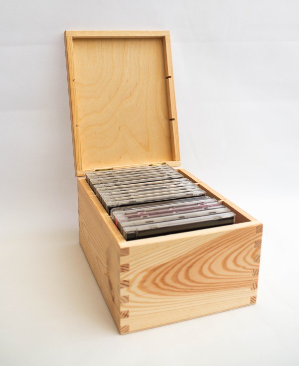 1 10x Plain Natural Wooden Cd Box Case Storage Wood Boxes