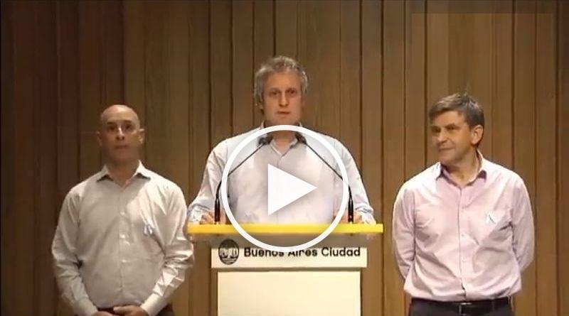Conferencia de prensa del jefe de Gabinete porteño, Felipe Miguel por el conflicto del subte