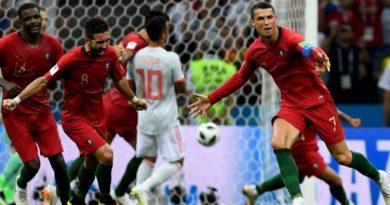 Portugal y España igualaron por una galáctica actuación de Cristiano