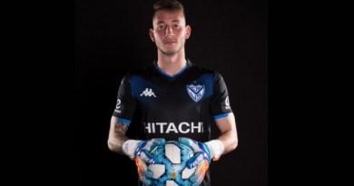 El arquero Matías Borgogno extendió esta tarde su contrato con Vélez Sarsfield