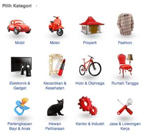 Tokobagus.com's categories