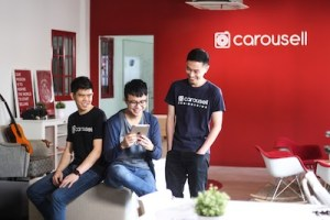 Three co-founders of Carousell