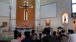 I was attending an Indonesian friend's wedding in a church in Jakarta