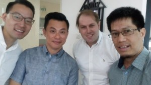 Me (first from right) in a meeting with Venturra's partners