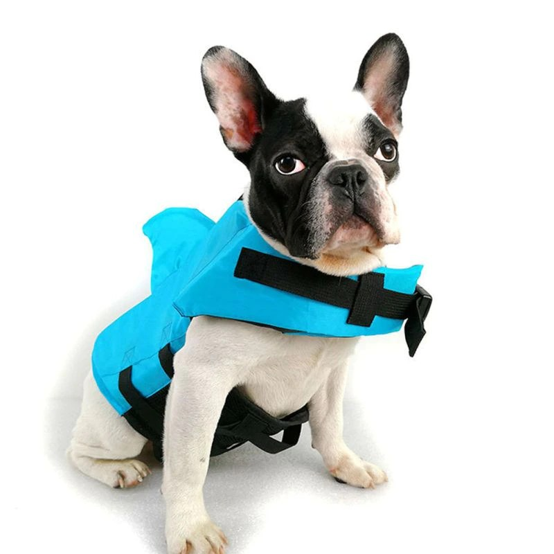 Dog Life Vest Summer Shark Pet Life Jacket Dog Clothes Dogs Swimwear Pets Swimming Suit
