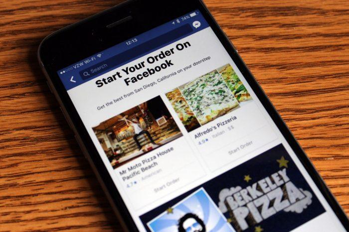 Ahora Facebook permitirá ordenar comida directamente desde su aplicación
