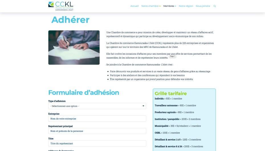Page Adhérer