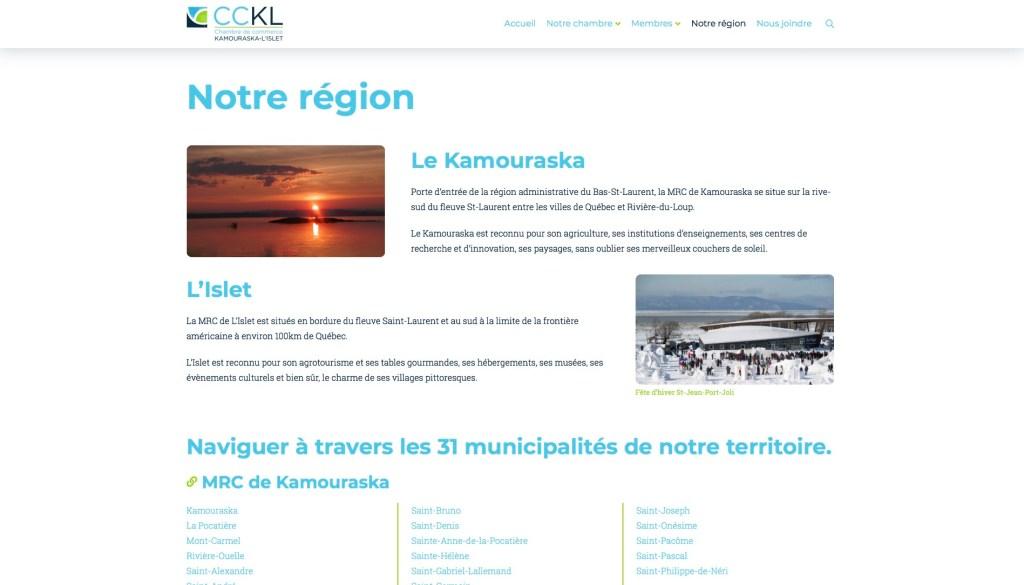 Page Notre région