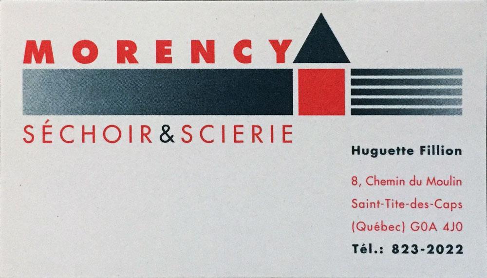 Carte et logo Séchoir & Scierie Morency